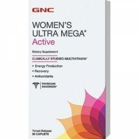 Women Ultra Mega Active Multivitamine si minerale, 90 tablete, GNC