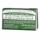 Dr. Bronner's Magic Soaps All-One Hemp Almond Pure-Castile Soap 140g GNC