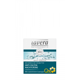 Crema Bio de noapte antirid Q10 Basis Sensitiv, 50ml, Lavera